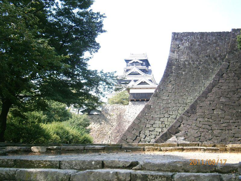 熊本城そりかえり
