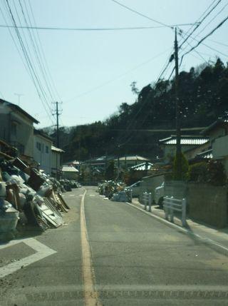 Iwaki (片付いた後の道路)